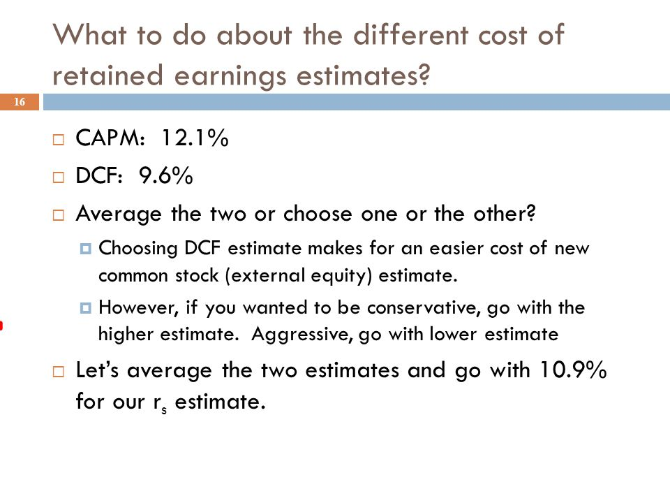 DCF estimate for the Cost of Retained Earnings for 3M 15  Recent Stock Price = $77.00,  Last Dividend = $1.84,  expected constant growth rate in dividends = 7%