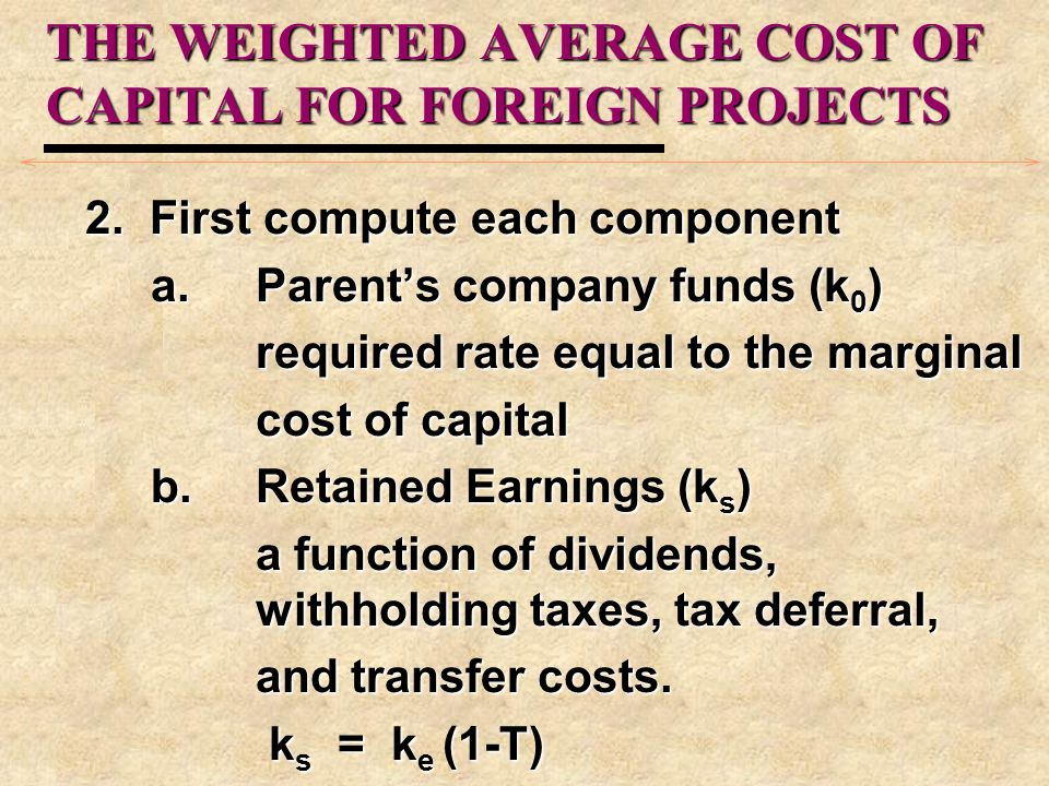 DISCOUNT RATES FOR FOREIGN PROJECTS 3.Relevant Base (Market) Portfolio a.