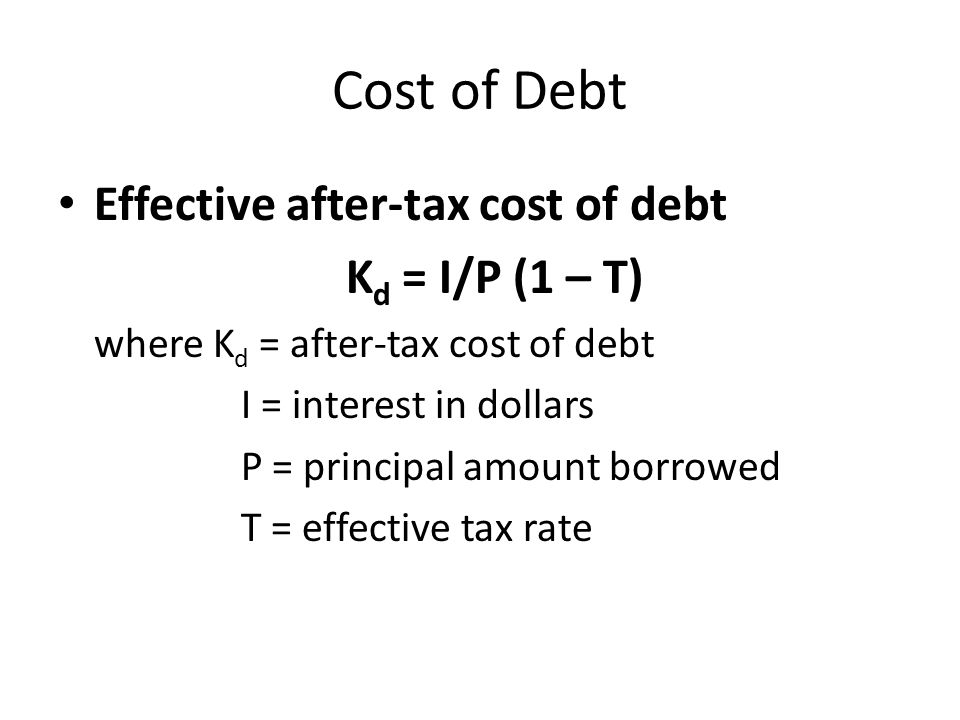 Cost of Debt If firm raises debt capital by selling bonds publicly, then it will incur some sales costs.