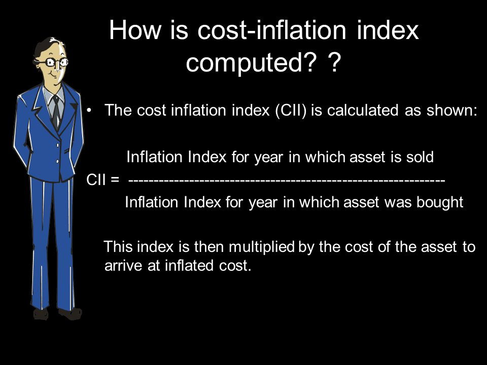 How is cost-inflation index computed.