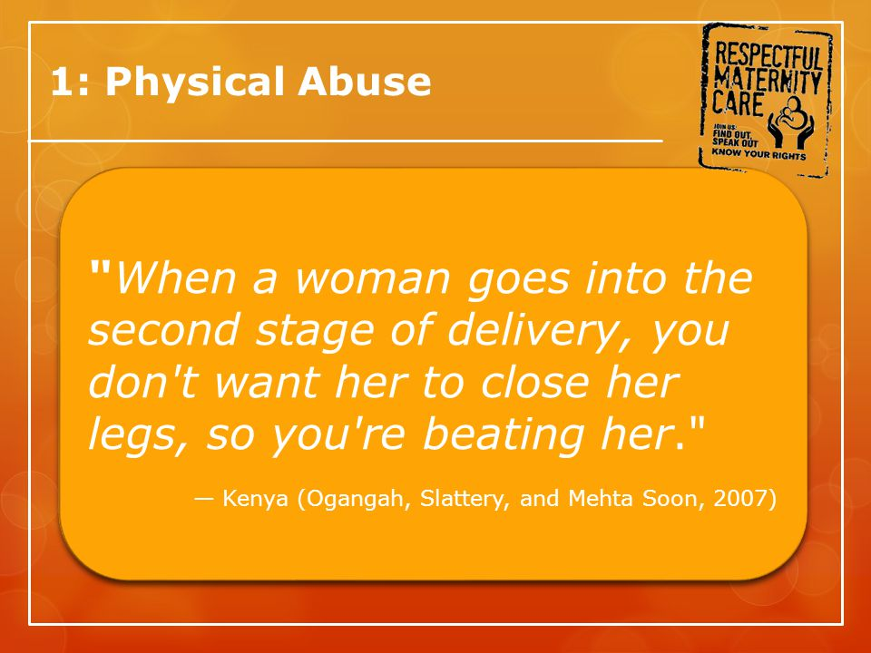 1: Physical Abuse