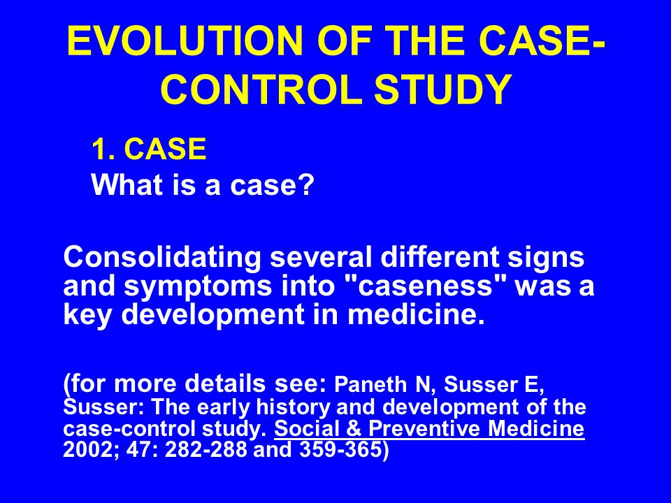 case control study epidemiology definition