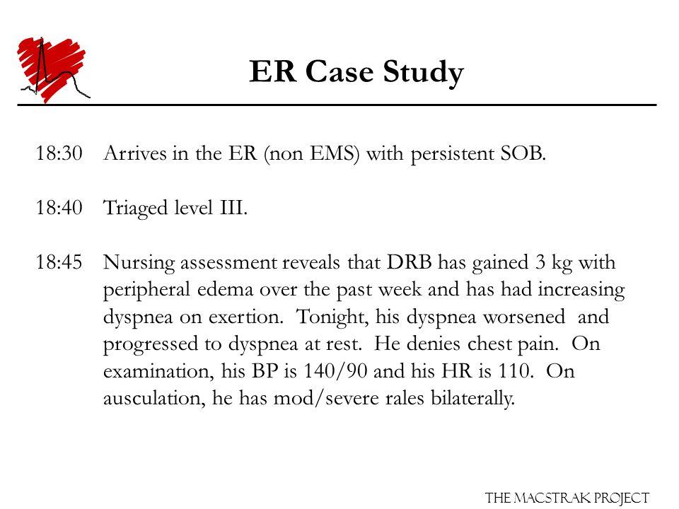 The Macstrak Project ER Case Study 18:55ECG shows Left Bundle Branch Block (LBBB).