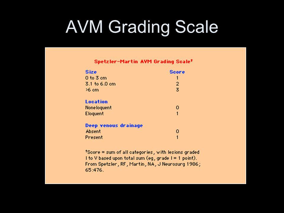 AVM Grading Scale