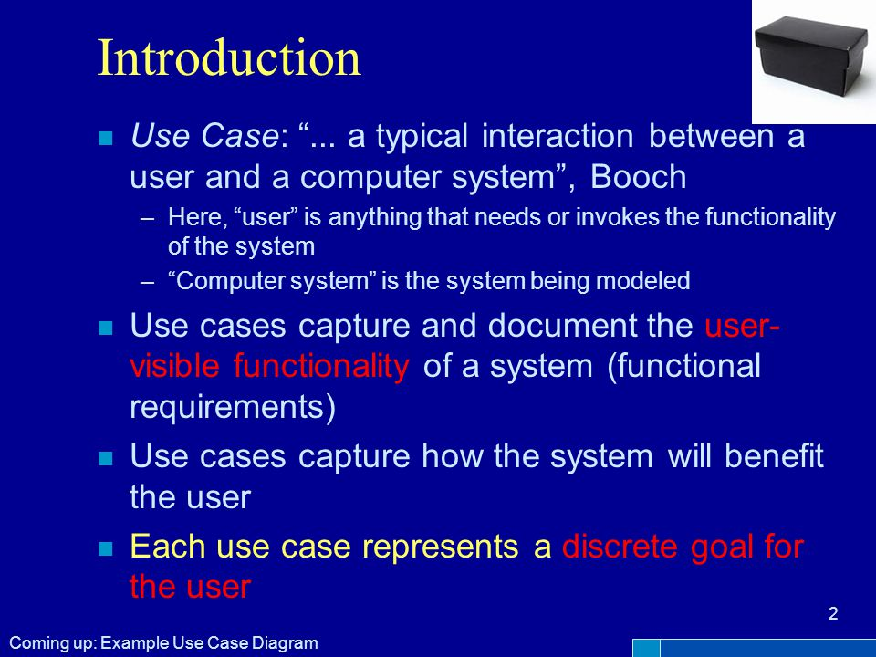 Introduction n Use Case: ...
