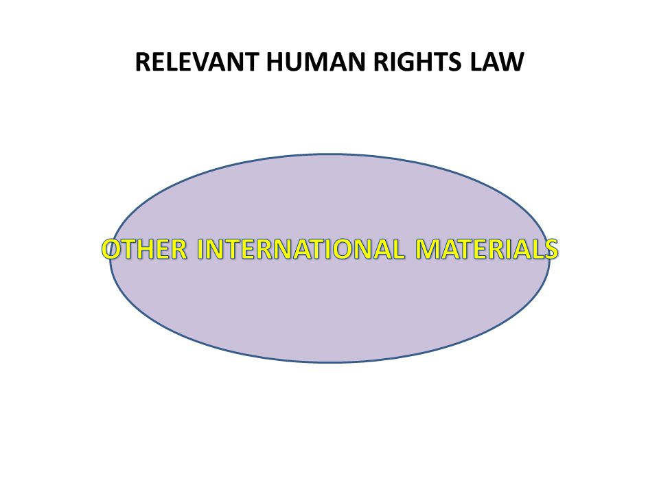RELEVANT HUMAN RIGHTS LAW