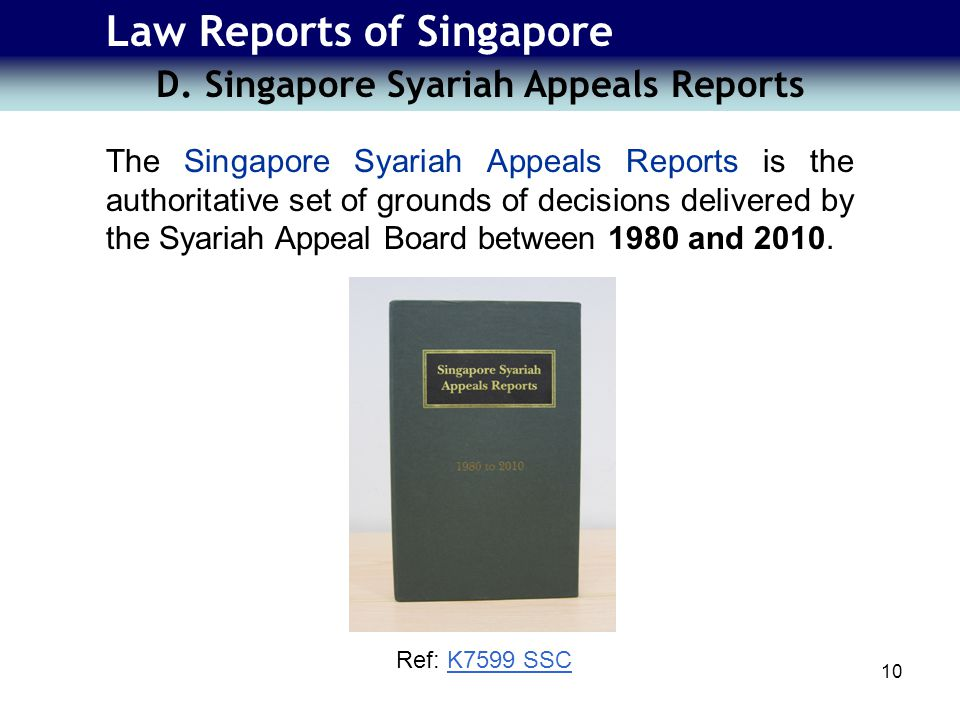 Law Reports of Singapore D.