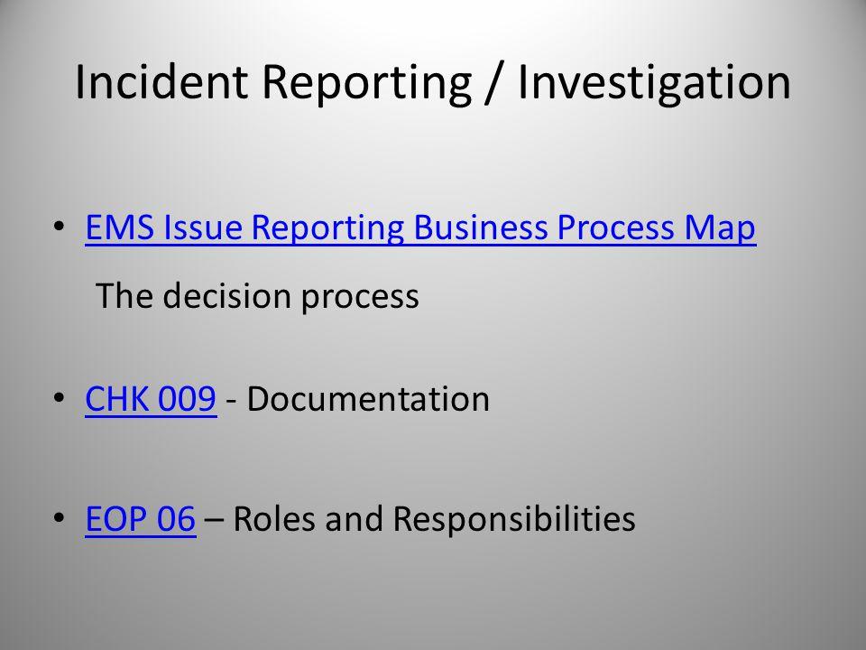 Why Investigate.