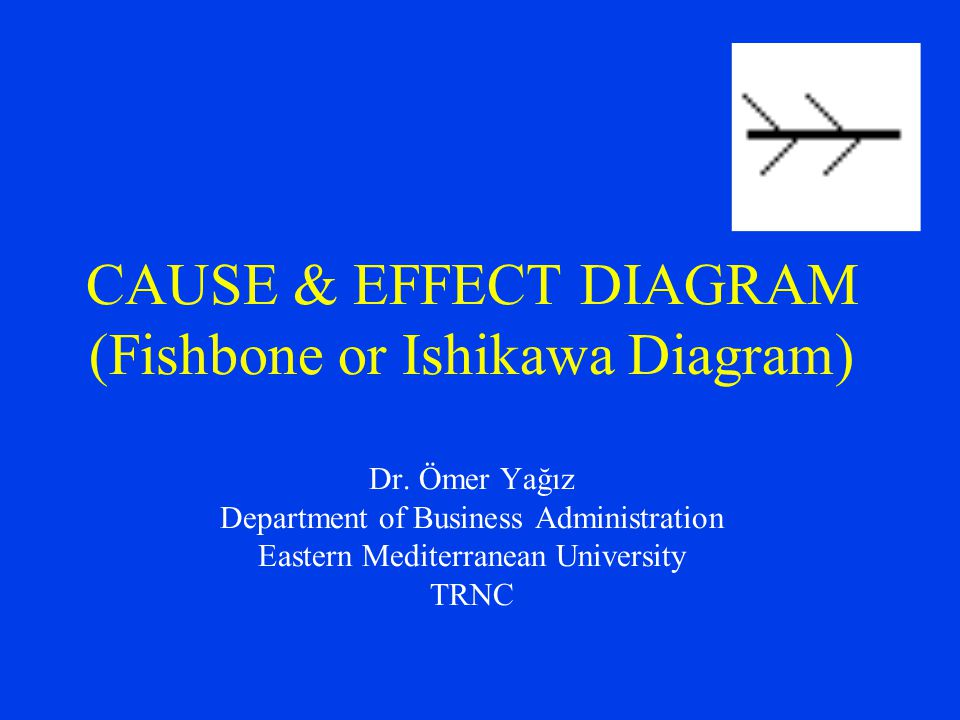CAUSE & EFFECT DIAGRAM (Fishbone or Ishikawa Diagram) Dr. Ömer Yağız Department of Business Administration Eastern Mediterranean University TRNC