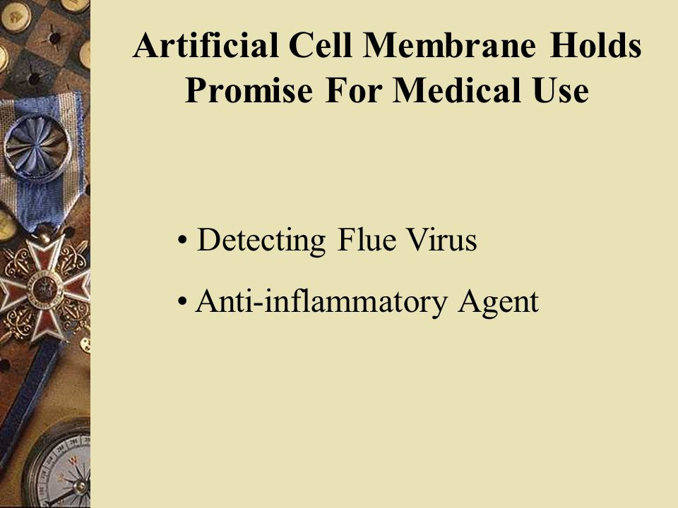 Artificial Cell Membrane Holds Promise For Medical Use Detecting Flue Virus Anti-inflammatory Agent