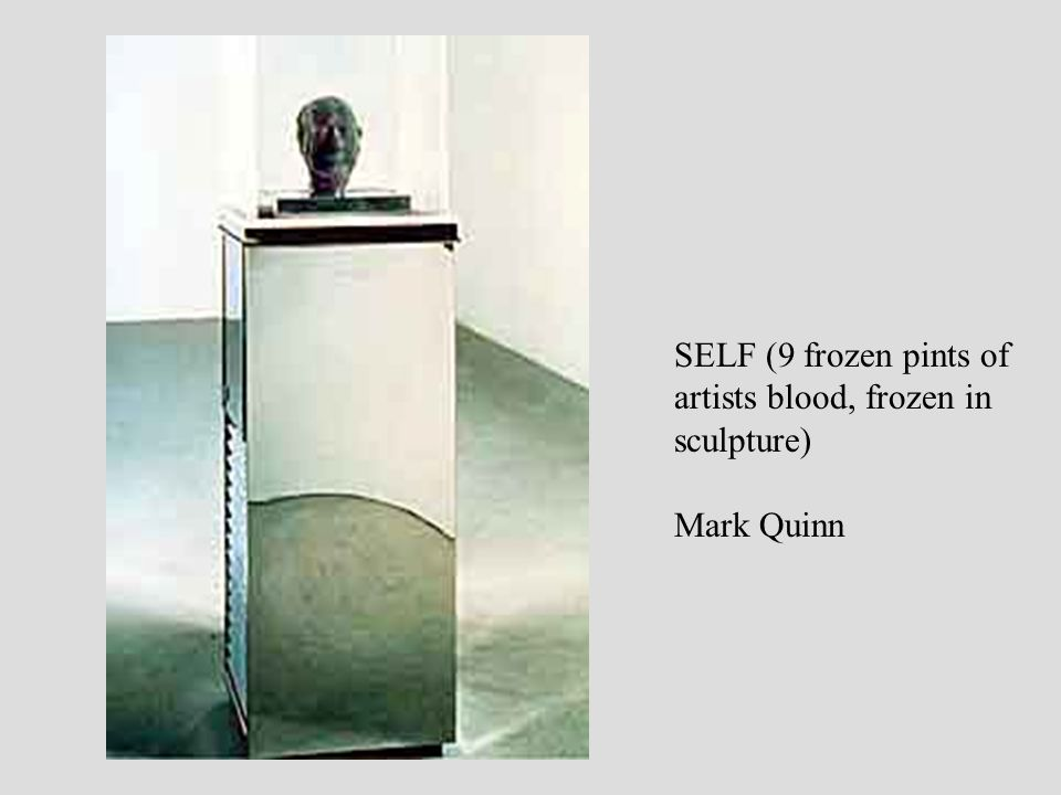 SELF (9 frozen pints of artists blood, frozen in sculpture) Mark Quinn