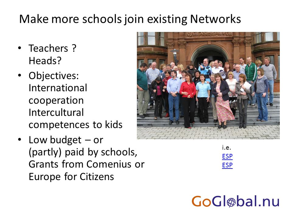 Make more schools join existing Networks Teachers .