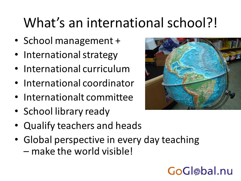 What's an international school?.