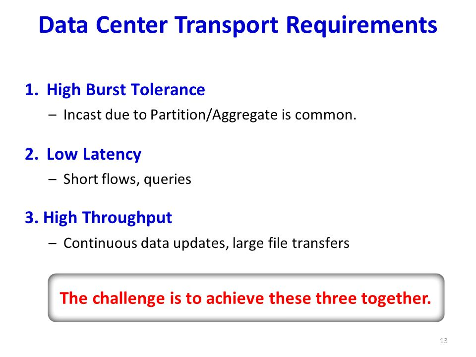 Data Center Transport Requirements 13 1.