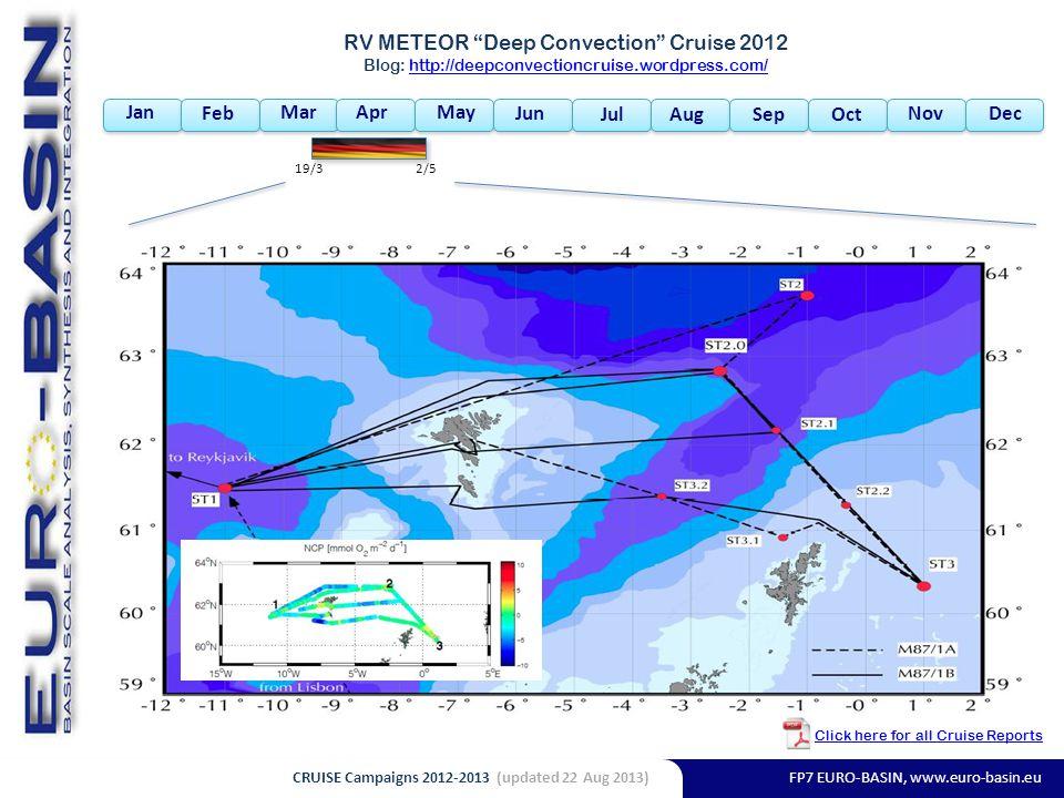 FP7 EURO-BASIN, www.euro-basin.eu Jan Feb MarAprMay Jun Jul AugSepOct NovDec RV METEOR Deep Convection Cruise 2012 Blog: http://deepconvectioncruise.wordpress.com/http://deepconvectioncruise.wordpress.com/ 19/32/5 Click here for all Cruise Reports