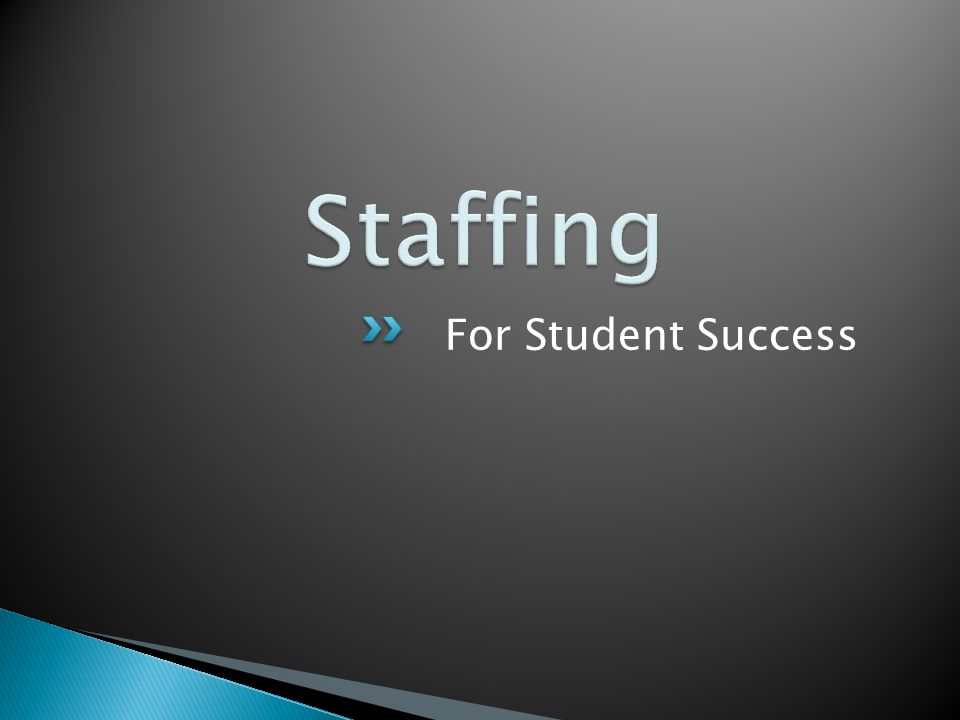 For Student Success
