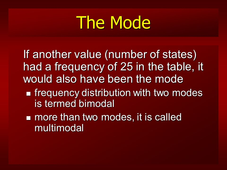 The Mode Note - the mode IS NOT 104.