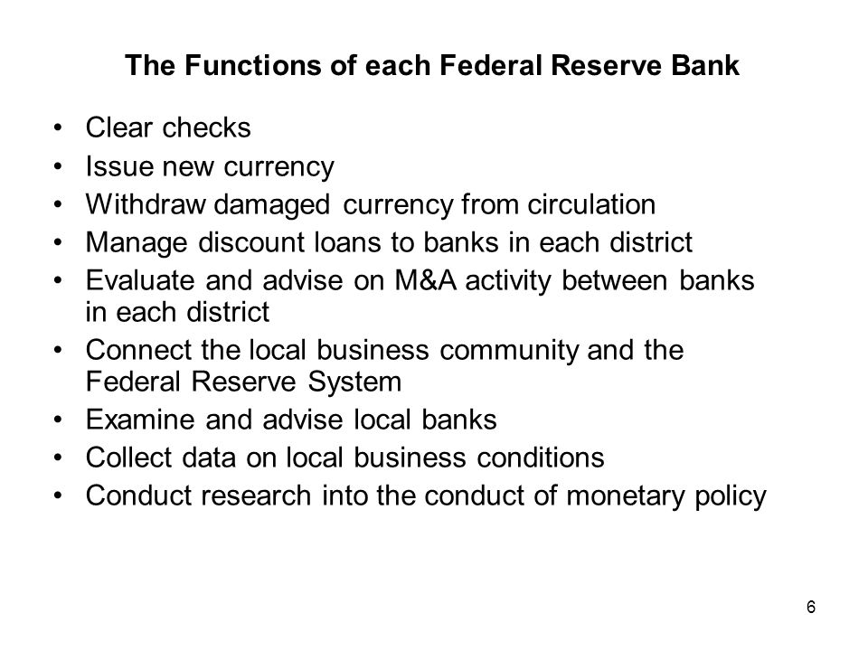 7 Monetary Policy and the Fed The directors of the Federal Reserve Banks establish the discount rate at which commercial banks borrow from the Fed.