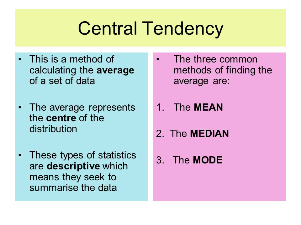 Worksheets Central Tendency measures of central tendency and dispersion mean median mode this is a method calculating the average set data the