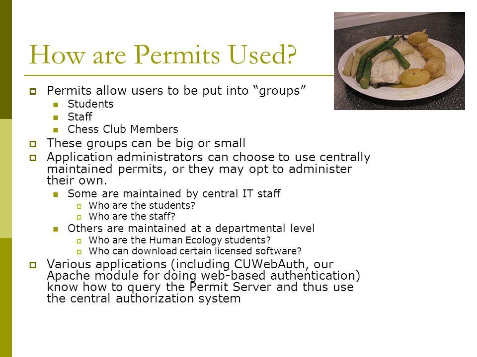 Permit Server Stats  Cornell has approximately 60,000 NetIDs.
