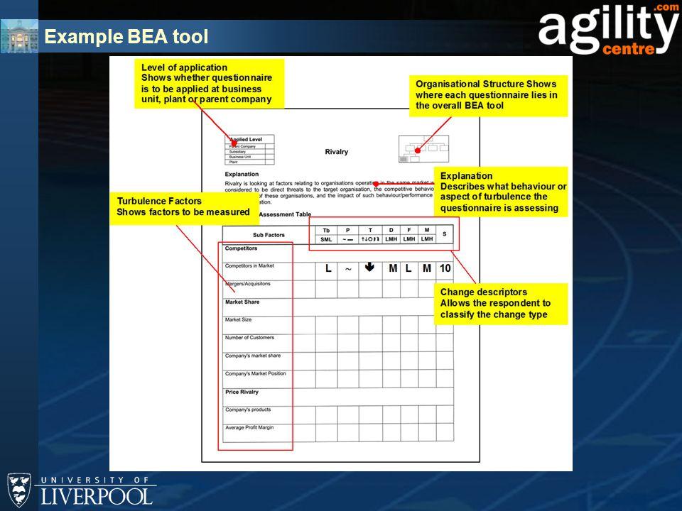 Example BEA tool