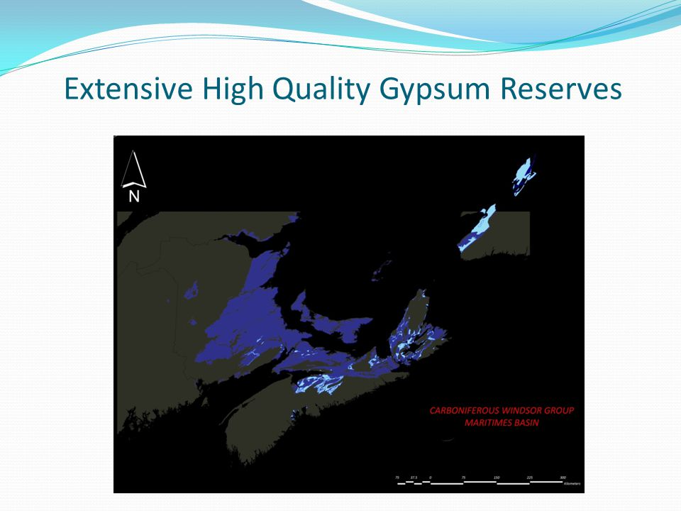 Extensive High Quality Gypsum Reserves