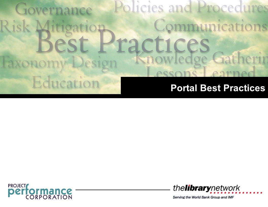 Portal Best Practices