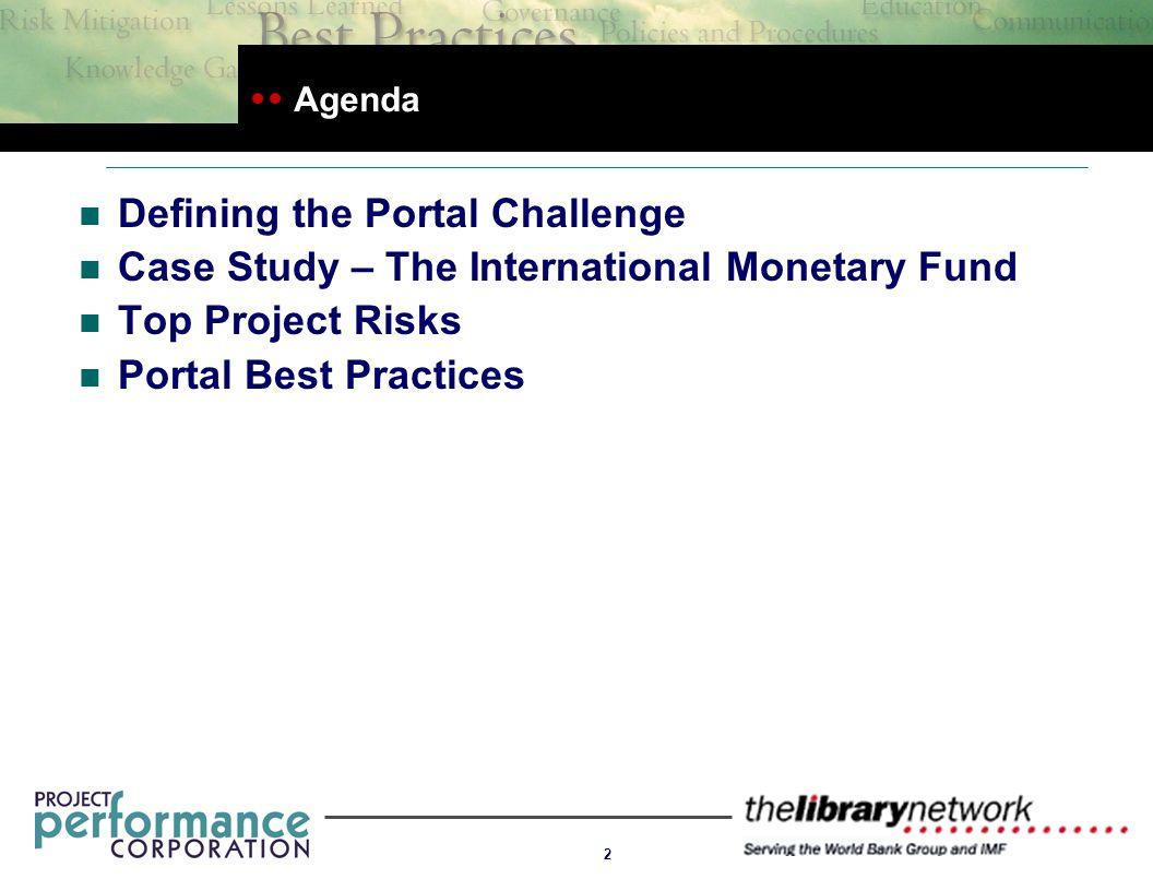 Top Five Portal Project Risks