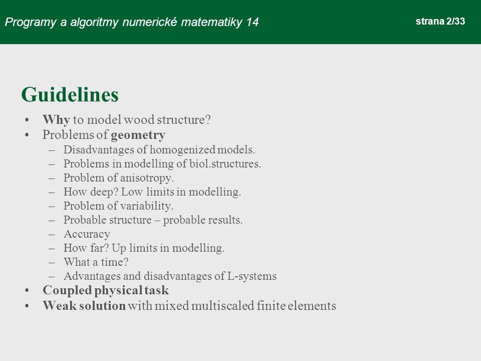 Programy a algoritmy numerické matematiky 14 strana 33/33 Thank you, for your attention...