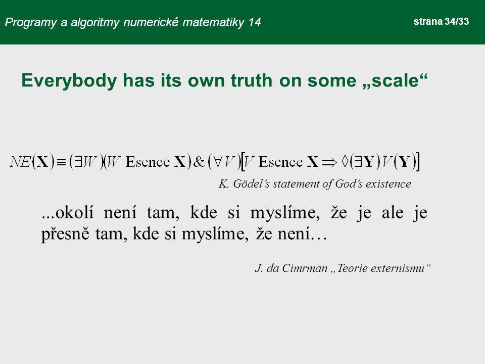 Programy a algoritmy numerické matematiky 14 strana 34/33 J.