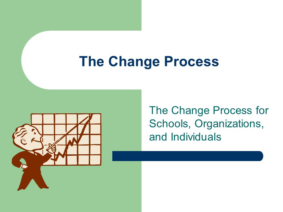 The Change Process The Change Process for Schools, Organizations, and Individuals