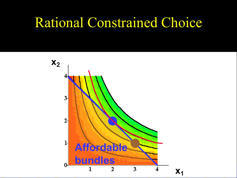 Rational Constrained Choice x1x1 x2x2 Affordable bundles