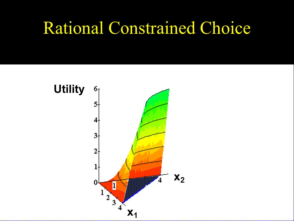 Rational Constrained Choice Utility x1x1 x2x2