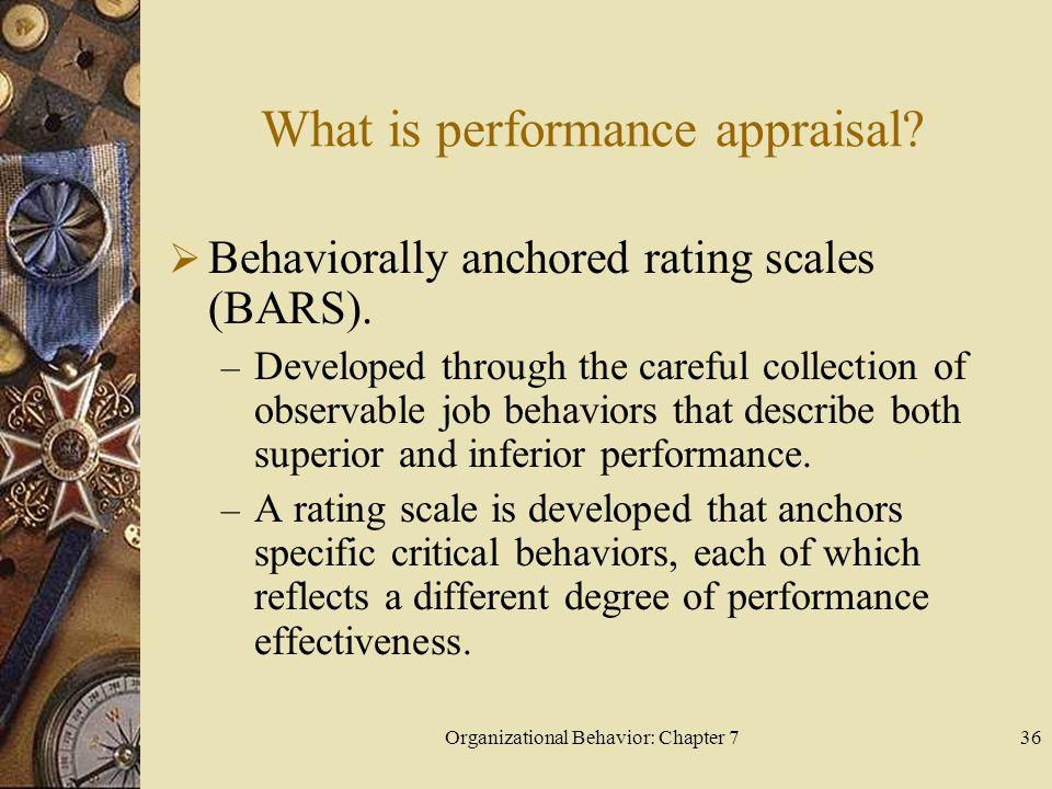 Organizational Behavior: Chapter 736 What is performance appraisal.