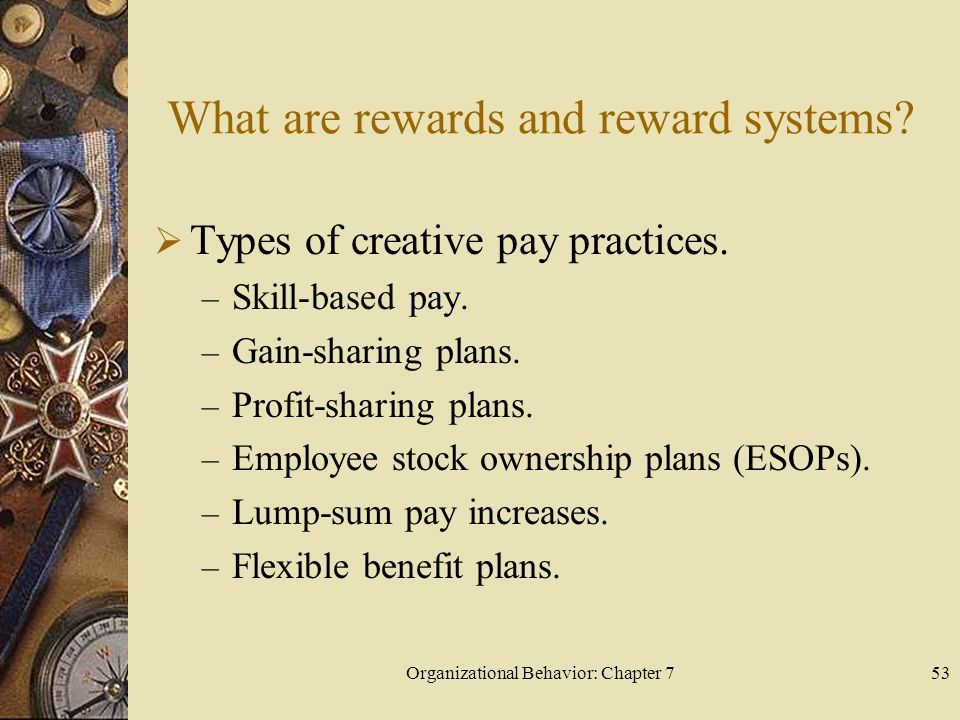 Organizational Behavior: Chapter 753 What are rewards and reward systems.