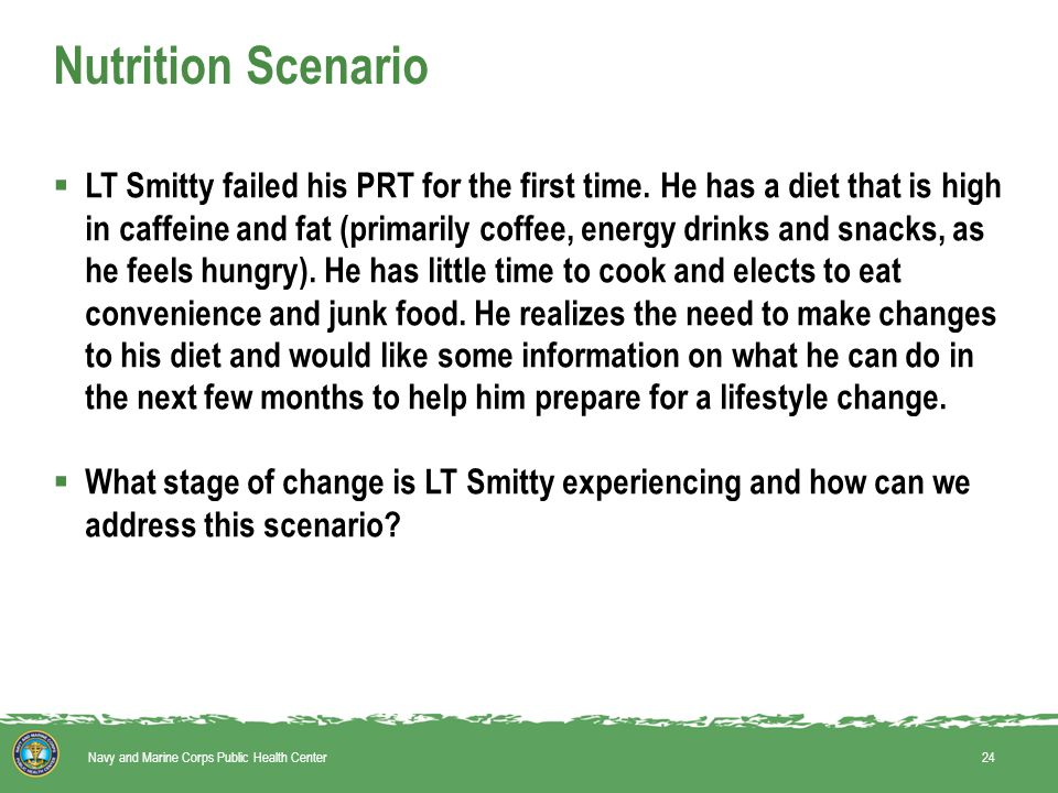  LT Smitty failed his PRT for the first time.