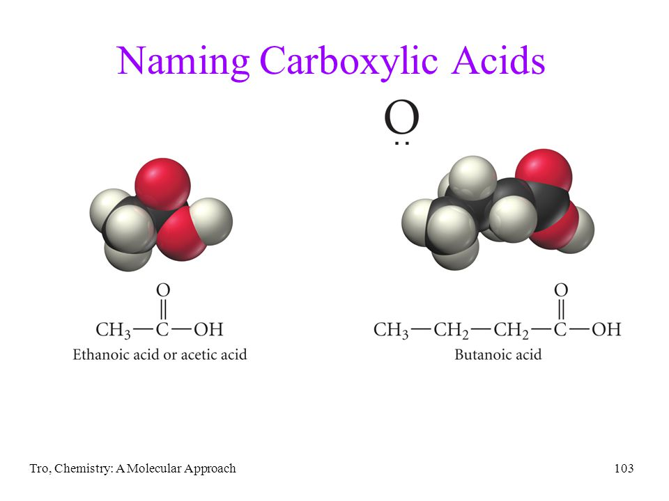 Tro, Chemistry: A Molecular Approach103 Naming Carboxylic Acids
