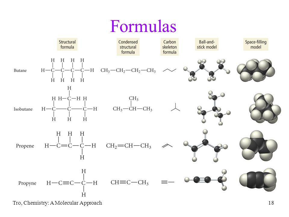 Tro, Chemistry: A Molecular Approach18 Formulas