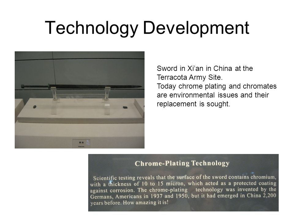 Technology Development Sword in Xi'an in China at the Terracota Army Site.