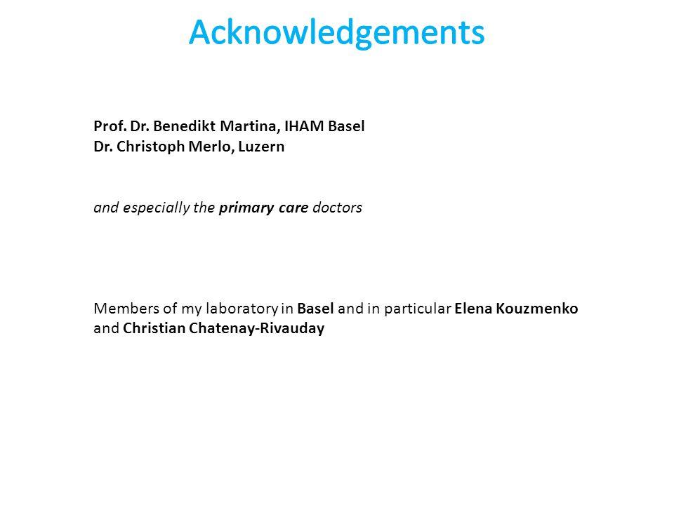 Prof. Dr. Benedikt Martina, IHAM Basel Dr.