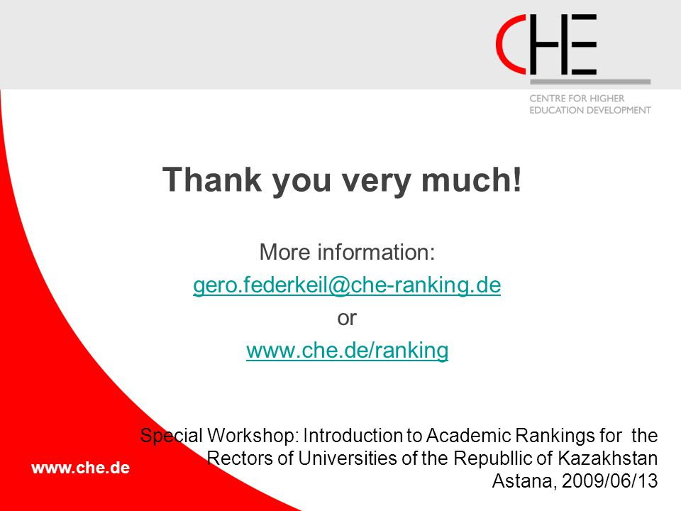 www.che.de Thank you very much.