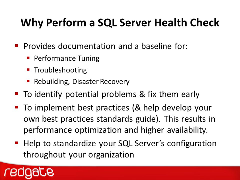 When Should You Perform a SQL Server Health Check  If you currently administer any SQL Servers and you have never documented them before.