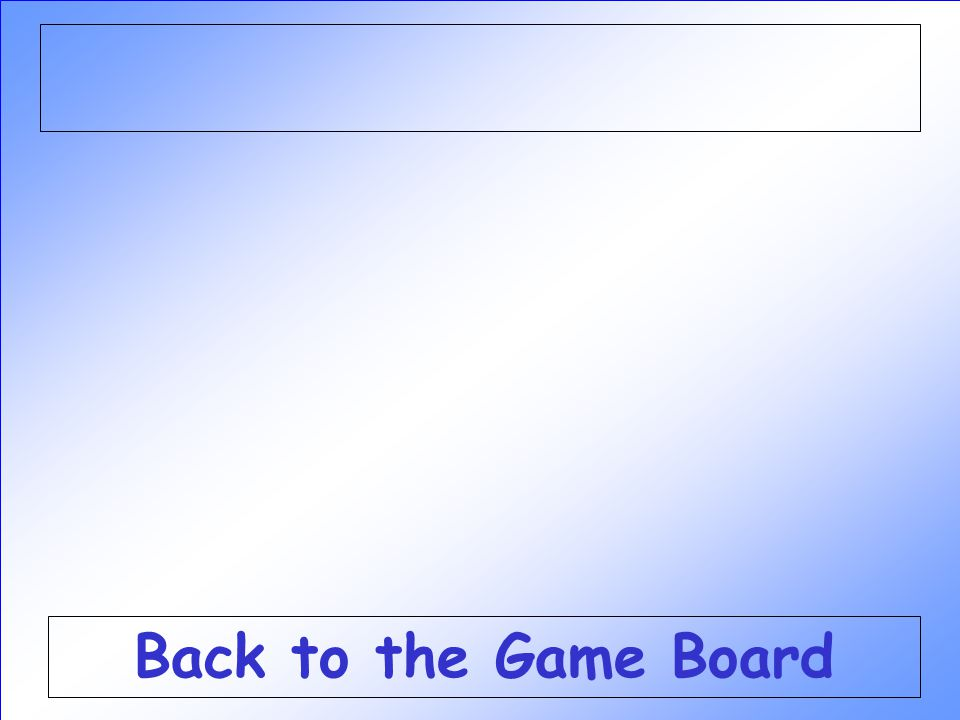 Back to the Game Board
