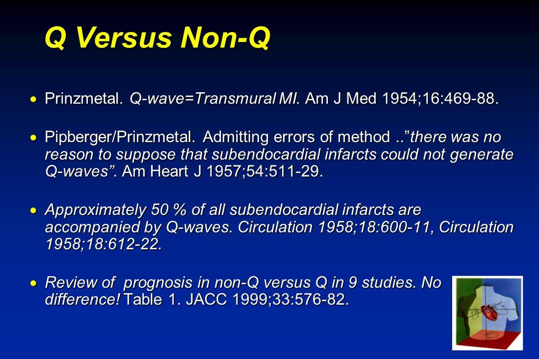 SVE-99 Q Versus Non-Q  Prinzmetal. Q-wave=Transmural MI.