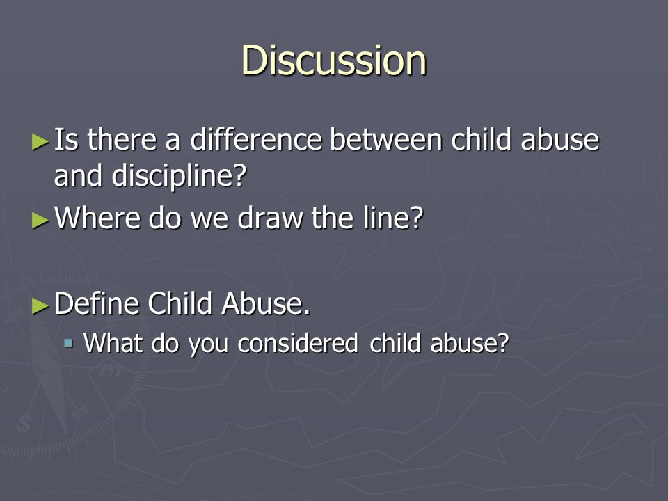 Three major components of child abuse Child + Care Giver + Stress = Child Abuse