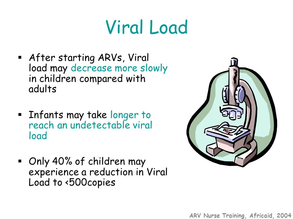 ARV Nurse Training, Africaid, 2004 Aim of therapy To maintain the child's immunological status at a level that prevents disease progression