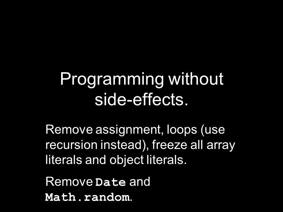 function MONAD() { var prototype = Object.create(null); function unit(value) { var monad = Object.create(prototype); monad.bind = function (func, args) { return func(value,...args)); }; return monad; } return unit; }