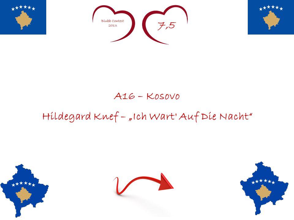 """7,5 A16 – Kosovo Hildegard Knef – """"Ich Wart' Auf Die Nacht"""""""
