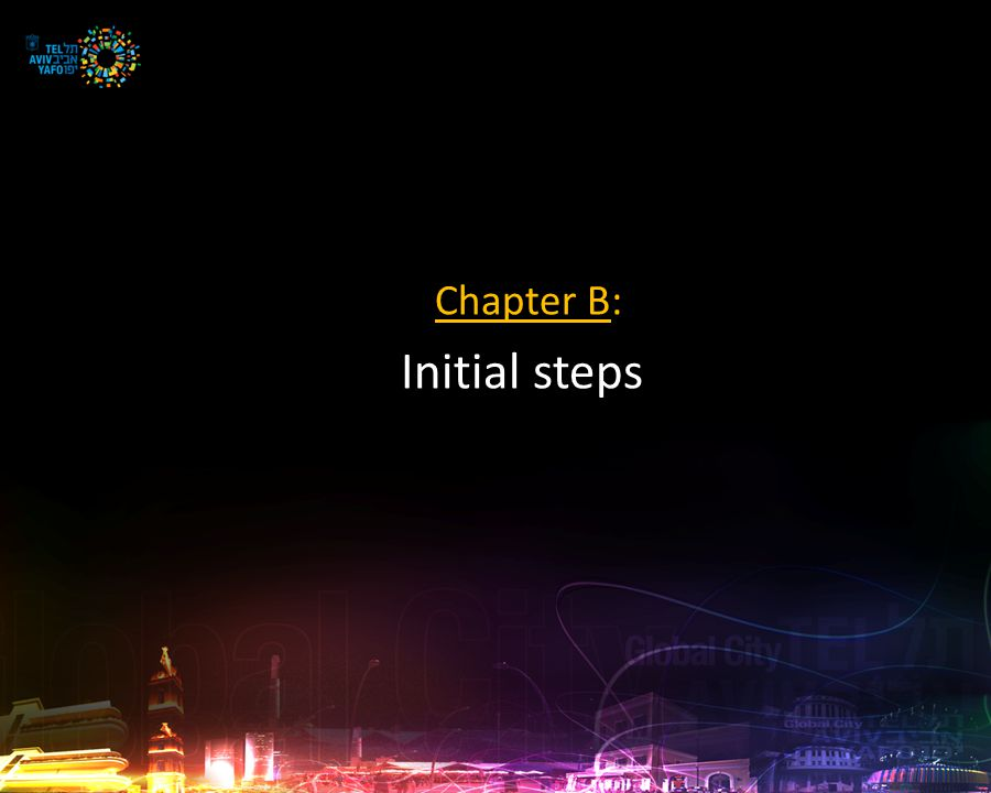 Chapter B: Initial steps