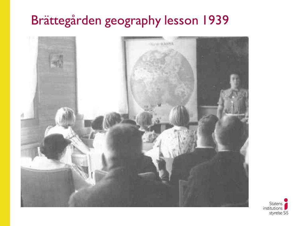 Brättegården geography lesson 1939